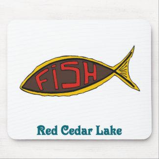 pescados del cedro rojo en pescados tapetes de ratón