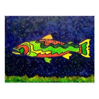 Pescados del color postal