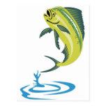 Pescados del delfín de Dorado o mahi del mahi Tarjeta Postal