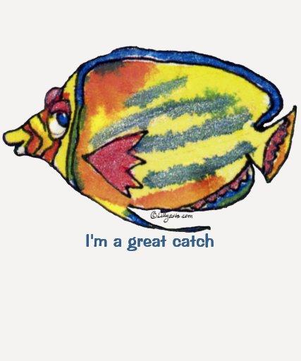 Pescados del dibujo animado 21 grandes camisetas