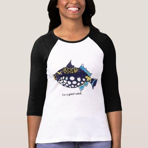 Pescados del dibujo animado 32 grandes camisetas playeras
