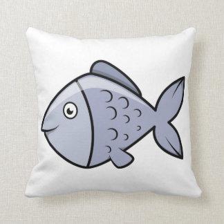 Pescados del dibujo animado de la diversión almohada