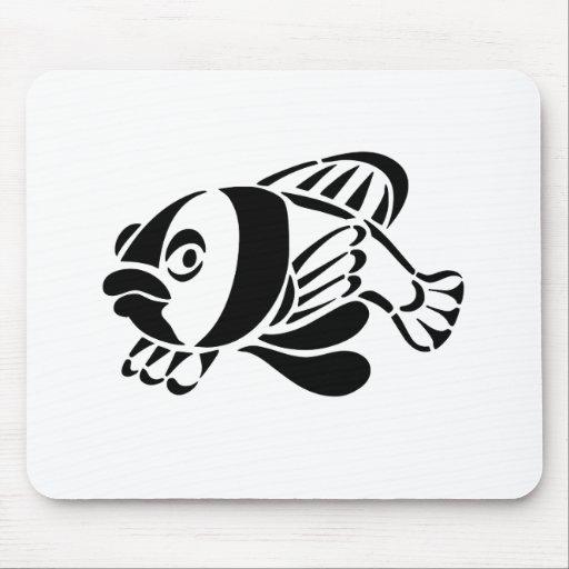 Pescados del dibujo animado mousepads
