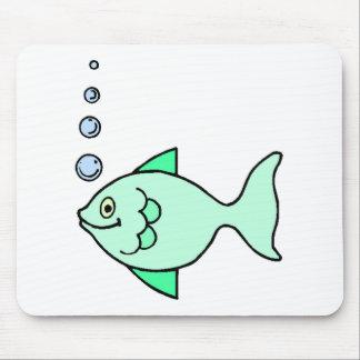 Pescados del dibujo animado alfombrilla de ratones