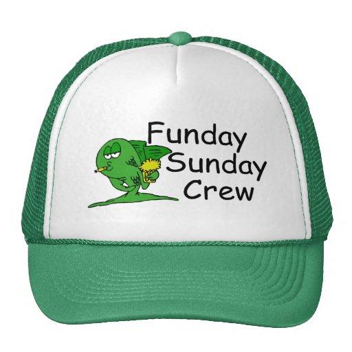 Pescados del equipo de Funday domingo Gorros Bordados
