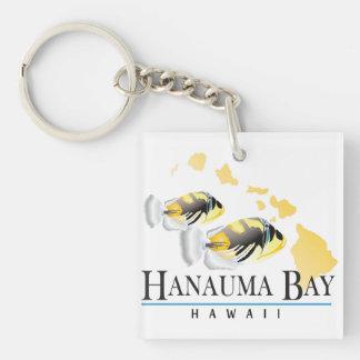 Pescados del estado de Hawaii - Humuhumunukunukuap Llavero Cuadrado Acrílico A Doble Cara
