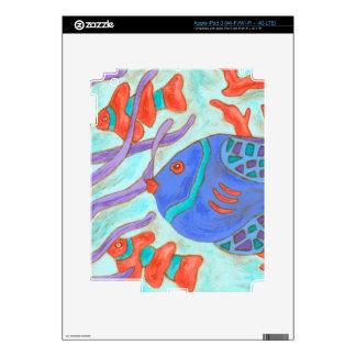 Pescados del estallido iPad 3 skin