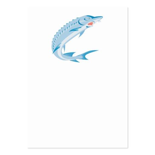 Pescados del esturión retros tarjeta de negocio
