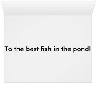 Pescados del feliz cumpleaños tarjeta de felicitación grande