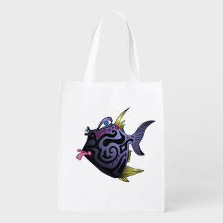 """Pescados """"del fumador"""" con actitud bolsas reutilizables"""