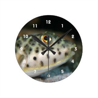 pescados del fumador que hacen frente a eye.jpg am reloj redondo mediano