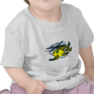 Pescados del helicóptero camiseta
