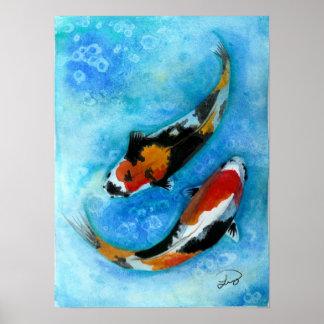 pescados del koi impresiones