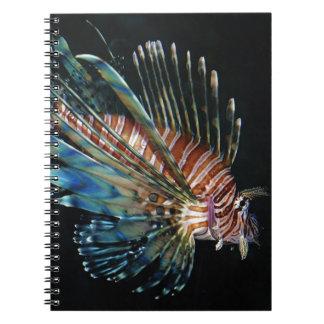 Pescados del león cuaderno