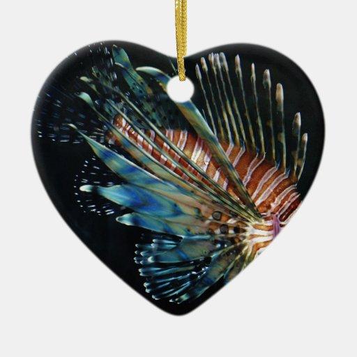 Pescados del león ornamento para arbol de navidad