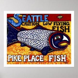 Pescados del lugar de Pike Posters