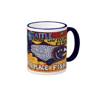 Pescados del lugar de Pike Tazas De Café