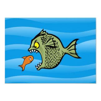 """Pescados del matón invitación 4.5"""" x 6.25"""""""