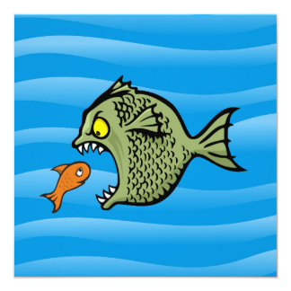 """Pescados del matón invitación 5.25"""" x 5.25"""""""