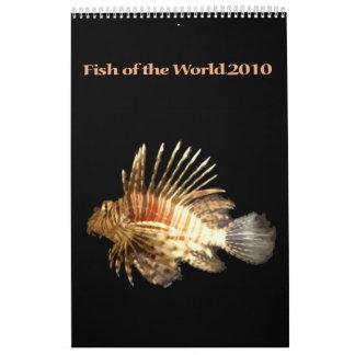 Pescados del mundo 2010 calendarios de pared