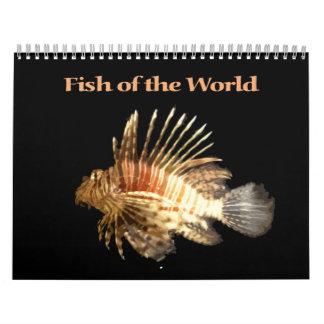 Pescados del mundo calendario de pared