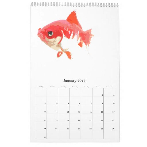Pescados del mundo calendarios de pared