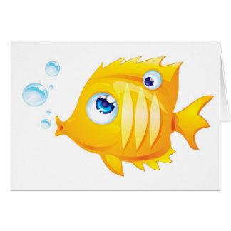 Pescados del oro tarjetón