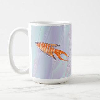 Pescados del paraíso tazas de café