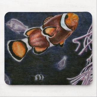 Pescados del payaso alfombrillas de ratones