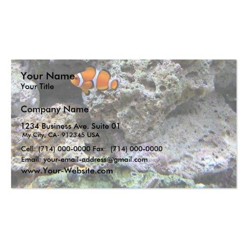 Pescados del payaso en el tanque plantilla de tarjeta personal