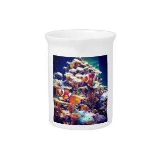 Pescados del payaso jarras de beber