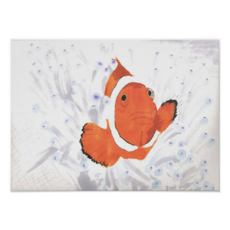 Pescados del payaso póster