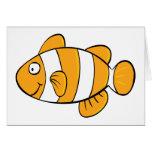 Pescados del payaso tarjeta