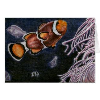 Pescados del payaso tarjeta de felicitación