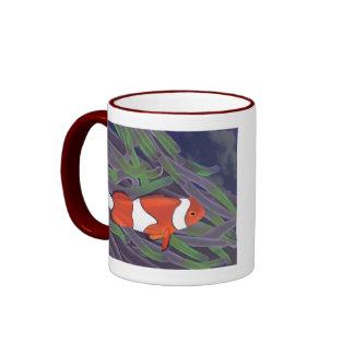 pescados del payaso taza de café