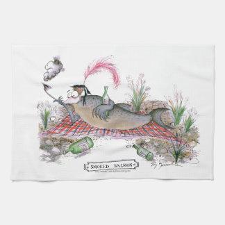 Pescados del salmón ahumado, fernandes tony toallas