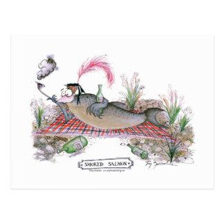 Pescados del salmón ahumado, fernandes tony tarjetas postales