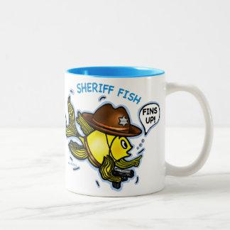 PESCADOS del SHERIFF - dibujo animado vivaracho li Taza Dos Tonos