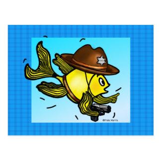 PESCADOS del SHERIFF - dibujo animado vivaracho Postal