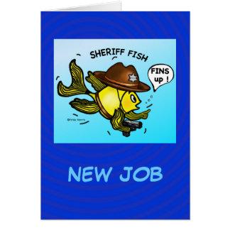 PESCADOS del SHERIFF - dibujo animado vivaracho Tarjeta De Felicitación