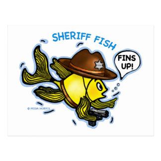 PESCADOS del SHERIFF - dibujo animado vivaracho Postales