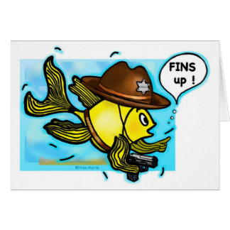 Pescados del sheriff - tarjeta vivaracha linda div