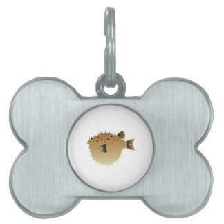 Pescados del soplo placa de mascota