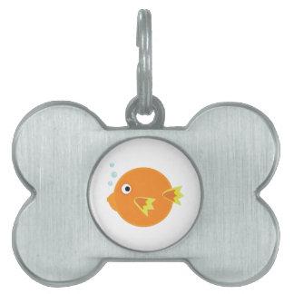 Pescados del soplo placas de mascota