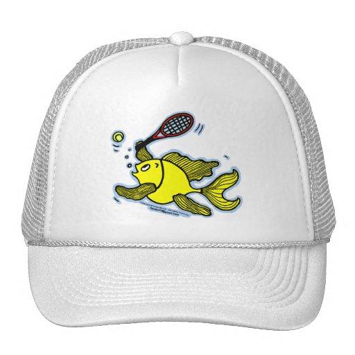 Pescados del tenis, pescados que juegan a tenis gorras de camionero