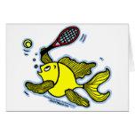 Pescados del tenis, pescados que juegan a tenis tarjetas