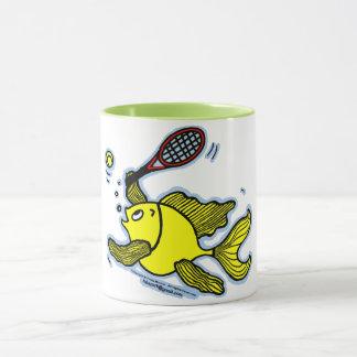 Pescados del tenis, pescados que juegan té/el café taza