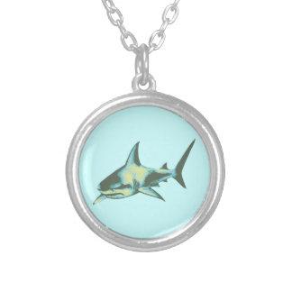pescados del tiburón, animales salvajes colgante redondo