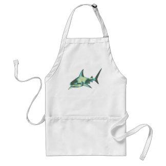 pescados del tiburón, animales salvajes delantal