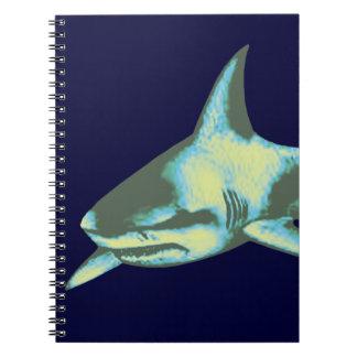 pescados del tiburón, animales salvajes libretas espirales